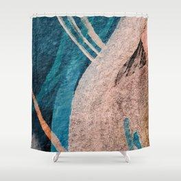 Dark Grace [1]: an abstract watercolor by Alyssa Hamilton Art Shower Curtain