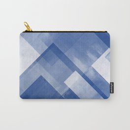 Untitled No. 8 | Blue + White Carry-All Pouch