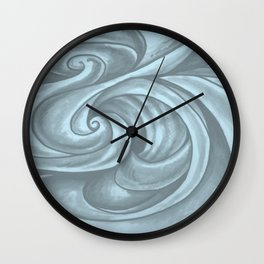 Swirl (Gray Blue) Wall Clock
