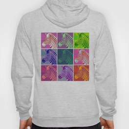 Everyone Loves A Zebra - Fluid Nature Abstract Art Hoody