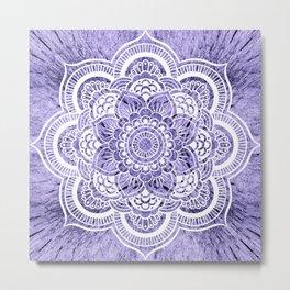 Mandala Lavender Colorburst Metal Print