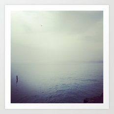 Lake Michigan Fog Art Print
