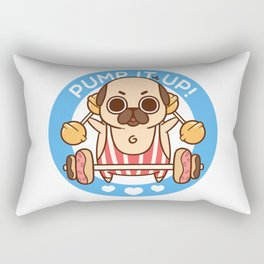 Pump It Up, Puglie! Rectangular Pillow