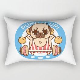 Pump It Up, Puglie! Rectangular Pillow
