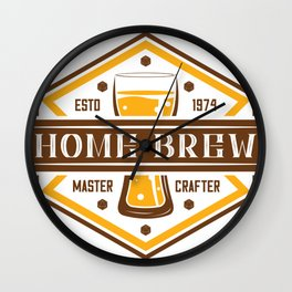 D20 Home Brew Content Creator Beer Label Wall Clock
