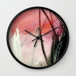 Train of thought: a vibrant abstract mixed media piece Wall Clock