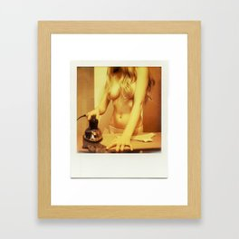 Housekeeping.  Framed Art Print