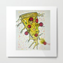 Splash Pizza Metal Print