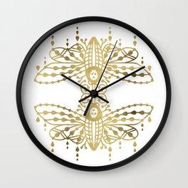 Death's Head Hawkmoth – Gold Palette Wall Clock