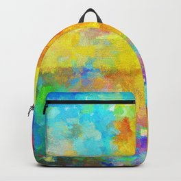 Abstract Painting with Vivid Colours Backpack