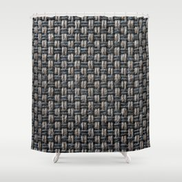 Wool cross pattern Shower Curtain