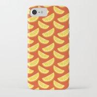 orange pattern iPhone & iPod Cases featuring Orange Pattern by rusanovska