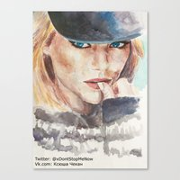 emma stone Canvas Prints featuring Emma Stone, blonde by xDontStopMeNow
