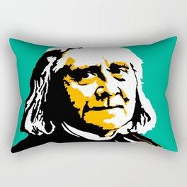 Franz Liszt (1811-1886) in 1886 (digital 2) Rectangular Pillow