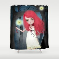 firefly Shower Curtains featuring Firefly by solocosmo