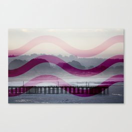 Waves and Pier Canvas Print