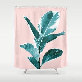 Ficus Elastica Finesse #2 #tropical #foliage #decor #art #society6 Shower Curtain