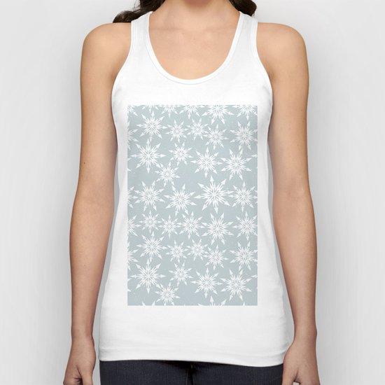 Merry Christmas Wintertime - Snowflakes pattern Unisex Tank Top