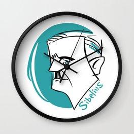 Jean Sibelius #4 Wall Clock