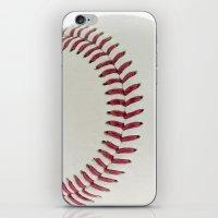 baseball iPhone & iPod Skins featuring Baseball by Pedro Nogueira