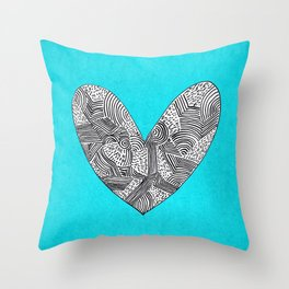 Patterned Heart Throw Pillow