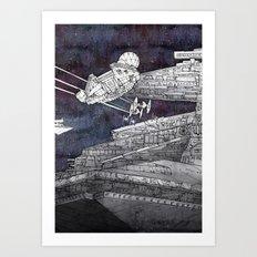 Millenium Falcon Art Print