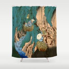 Mushroom Gatherers Shower Curtain