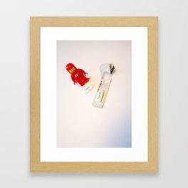 Red - pill Framed Art Print