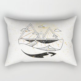 Triangle Dunes Inktober :: Destiny Laced Beneath The Deserts Rectangular Pillow