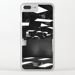 High Contrast Black and White modern day classroom Clear iPhone Case