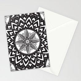 BLACK AND WHITE MANDALA  Stationery Cards