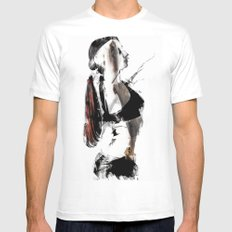 Arch MEDIUM White Mens Fitted Tee