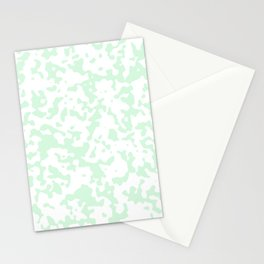 Spots - White and Pastel Green Stationery Cards