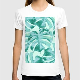 Tropical Monstera Leaves Dream #4 #tropical #decor #art #society6 T-shirt