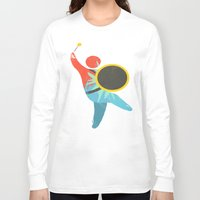drum Long Sleeve T-shirts featuring I Drum  by ArtistArt