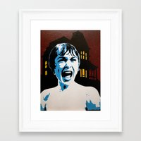 psycho Framed Art Prints featuring Psycho! by thatash