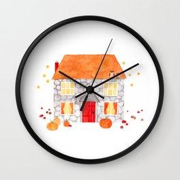 halloween house Wall Clock