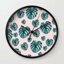 Tropical Monstera Dream #7 #tropical #pattern #decor #art #society6 Wall Clock