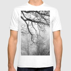 Fog MEDIUM Mens Fitted Tee White