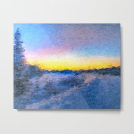 Cold Dawn Metal Print