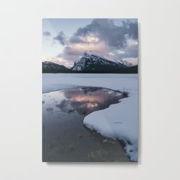 Sunset over Mt Rundle Metal Print