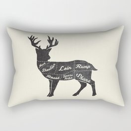 Venison Butcher Diagram-Deer Rectangular Pillow