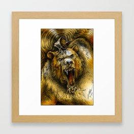 Bear Guardian (Color) Framed Art Print