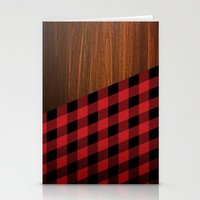 wooden Stationery Cards featuring Wooden Lumberjack by Nicklas Gustafsson