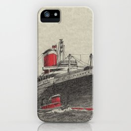 Steam Ship, New York Harbor iPhone Case
