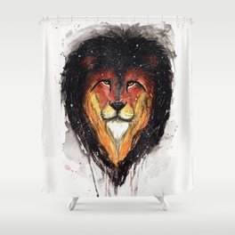 Fire Lion. Shower Curtain