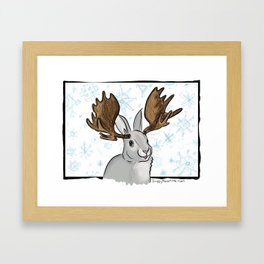 Winter MooseBunny Framed Art Print