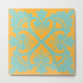 Sunshine Tile Metal Print