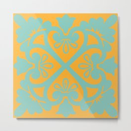 Sunshine Tile Metal Print