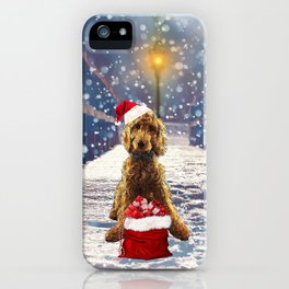 Christmas Golden Doodle iPhone Case